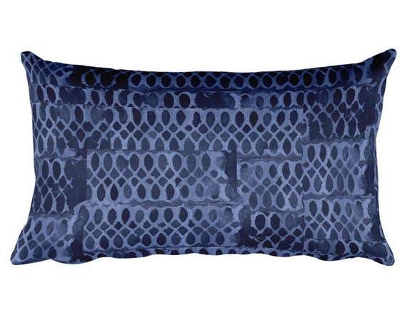 "Indigo Accent Pillow, 12""x20"""