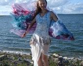 Fairy wedding dress Maxi boho dress Unique wedding dress Boho wedding dress Bohemian wedding dress Bohemian clothing Beach wedding dress
