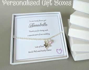 Personalised Gift Box, Jewellery Gift Box, Personalised Gift Box, White Gift Box, Presentation Box for Jewellery, Jewelry Gift Box