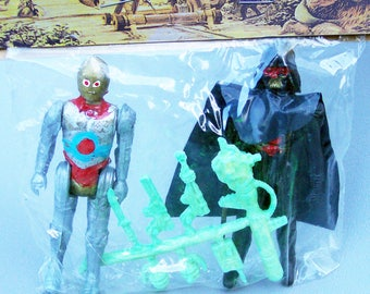 Vintage Star Wars Mexican KO Darth Vader and C-3PO Figures Mint in Sealed Package Very Rare