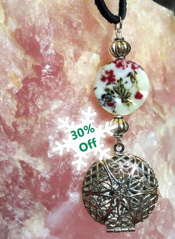 Handmade, Silver, Oil Diffuser, Necklace, Aromatherapy, Womens Jewelry, Boho Jewelry, Essential Oils, Sage and Synergy, Pendant, Woman Style