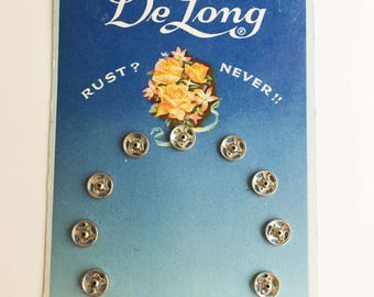 vintage delong snaps with great blue floral packaging