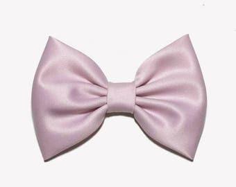 light pink hair bow etsy