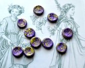Purple Fairy Runes, Divination, Fairy Magic, Nature Runes, Fairy Runes, Faerie Runes, Divination Tools, Rune Set, Fairy Magic, Natural Runes