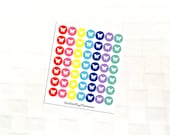 Butterfly Mutlicolor Icon Stickers