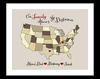 Unique family gift ideas christmas gifts for mom christmas gifts for dad, custom maps present for mom dad parents sister brother, wall art
