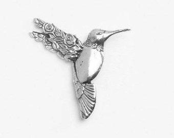 """Spoon Brooch: """"Hummingbird"""" by Silver Spoon Jewelry"""