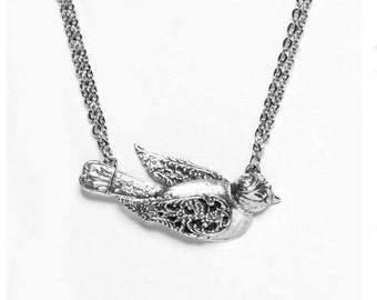 "Spoon Necklace: ""Bird"" by Silver Spoon Jewelry"