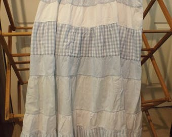 Gingham Polka Dots Stripes Maxi Skirt