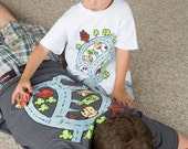 Race Track Shirt, (XL) Road Play Mat Shirt, Father Son Matching Shirts, Fathers Day, Birthday Gift for Dad and Son, Dad Shirt, Race Car