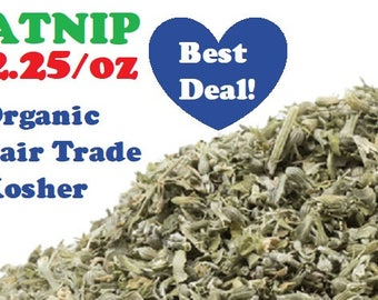 Organic CATNIP - 1 oz - Nepeta cataria dried herb ounce, fair trade, kosher, non-GMO
