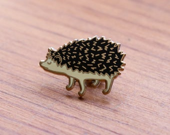 Black Hedgehog Enamel Pin