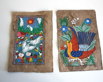 Two Mexican Folk Paintings
