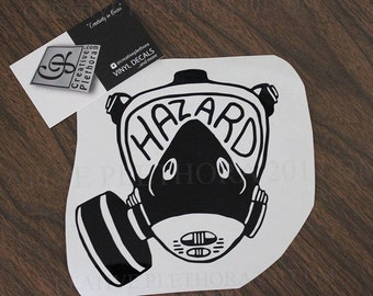 "HAZARD Mask decal 5.65"" x 5.25"" custom laptop window car tablet decal sticker"