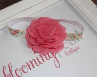 Spring Flower Chiffon Newborn/Infant Flower Headband
