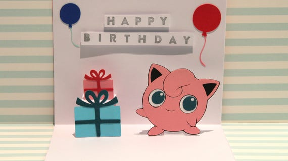 Pop Up Card Jigglypuff Happy Birthday Pokemon Card