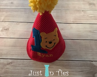 Winnie the Pooh Personalized Party Hat