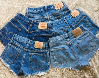 Vintage Levi's Denim Shorts Levi Strauss Jean Shorts ALL SIZES