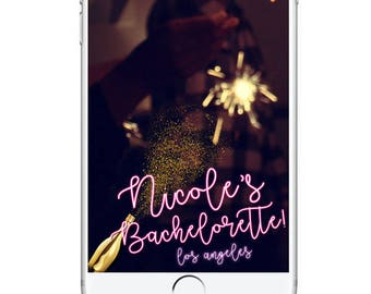 Bachelorette Party Geofilter Snapchat Filter, Bachelorette Snapchat Filter, Personalied Bachelorette Geofilter, Snapchat Geofilter Champagne