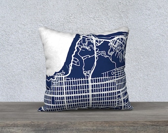 San Francisco NW Map Pillow Cover