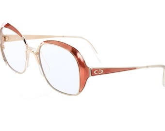 Christian Dior 2132 beautiful ladies oversized gold & copper eyeglasses frames made in Austria