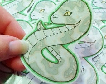 Slytherin / Hogwarts Houses / Snake / Hand Cut Glossy Stickers / ShonaMary Designs