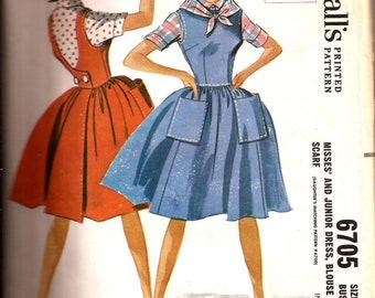 Vintage 1960s  Bouffant Swing Jumper Dress Pattern / McCalls 5238 / Size 14 Bust 34