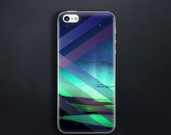 Northern lights case for iPhone 5 Case for iPhone SE Case rubber for iPhone 5s Case silicone for iPhone 5c Case Aurora Borealis print