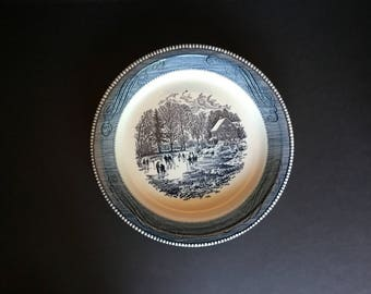 Jeannette Currier and Ives Pie Pan/Plate