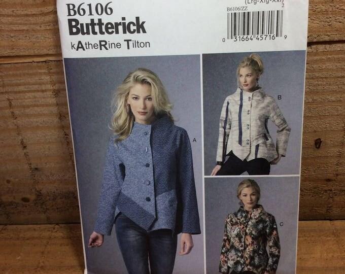 Katherine Tilton B6106, Katherine Tilton pattern, Butterick pattern from 2014, 2.50 US shipping, loose fitting jacket, chic jacket to sew