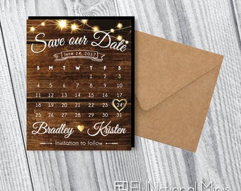 Save the Date Calendar Magnets | Wedding Save the Dates > Envelopes Included > FREE SHIPPING