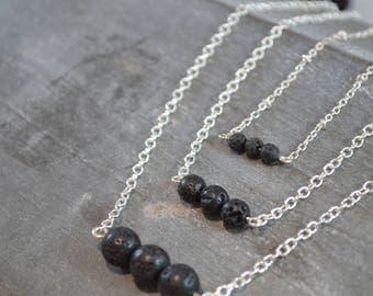 Lava Stone Necklace, Essential Oil Necklace, Oil Diffuser Necklace, Lava Necklace, Diffuser Necklace, Lava Rock Necklace