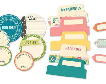 October Afternoon Woodland Park Tidbits, Nature-Themed Scrapbook Die-Cut Shapes