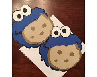 Cookie Monster Invitation, Cookie Monster Invite, Sesame Street Invitation, Sesame Street Invites