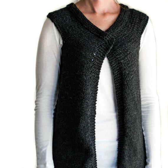 Vest Knitting Pattern Beginners : Vest knitting pattern great beginner justice