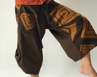 SR0146 Samurai Pants Harem pants have fisherman pants style wrap around waist