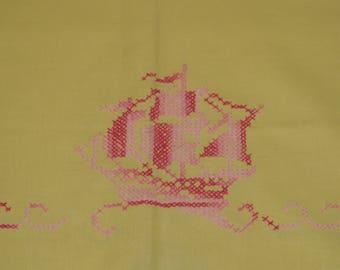 Vintage tablecloth Square