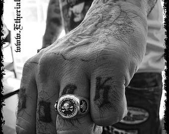 Sterling Silver Masonic Skull Ring Masonic Skull Ring Masonic Ring Skull Ring Sterling Silver Skull Ring Freemason Silver Skull Ring King