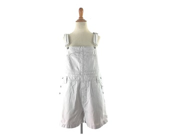 Overall shorts, Vintage overalls, women's overalls, jean overalls, size medium, large, m vintage clothin