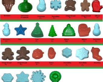 Christmas Soaps ~ Choice ~ Lot of 5 ~ 2 oz guest soaps