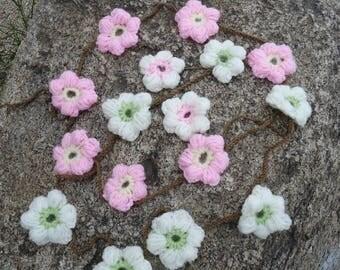 Flower blossoms garland