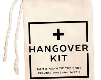Custom Hangover Kits, Gay Wedding Favor Bags, Personalized Hangover Kit Bag, Customized Hangover Kit, Bachelor Party Gift Bag, Bachelorette