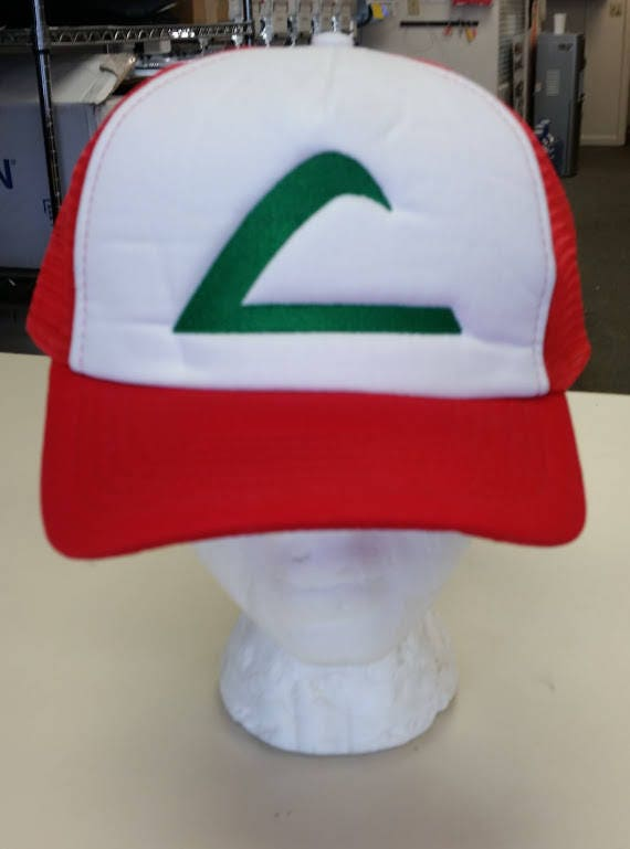 Ash Ketchum Replica Hat, Pokemon embroidered hat, Cosplay Ash Cap