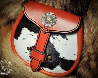 Leather Sporran Belt Bag Pouch