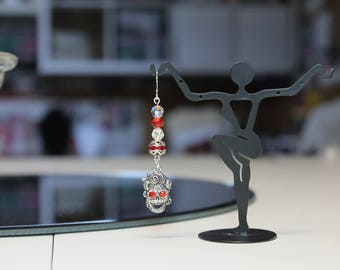 Day of the Dead Red Earrings