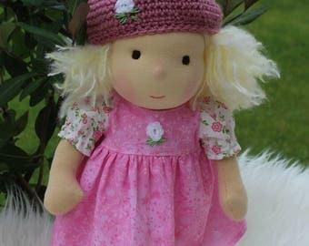 "RESERVED              Waldorf doll, 12,5"" tall doll steiner doll, organic doll,fabric doll, cloth doll, handmade"