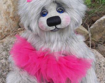 Ooak Artist Teddy Bear, handmade teddy bear, artist bear, teddy bear,Handmade by Carrie