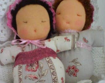 "Cuddly DUO ""SHABBY"" fabric Provence style."