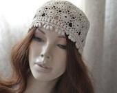 Crochet hat women Hats crochet summer Summer beanie Womens hats summer Crocheted hats Lace cap Ladies hats beanie Crochet hat lace