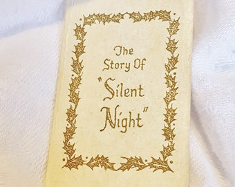 Vintage Story of Silent Night Miniature Book - Gibson Greeting Cards Christmas Booklet - Estate Ephemera